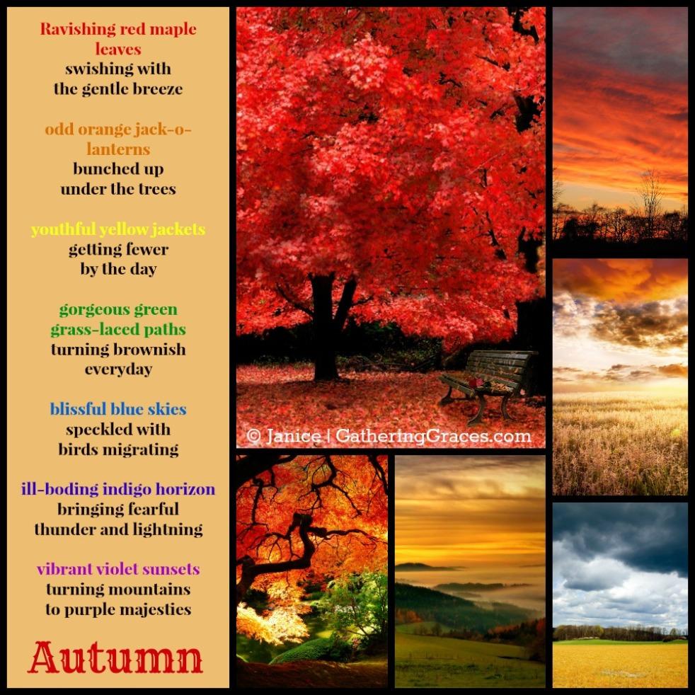 autumn colors collage poem