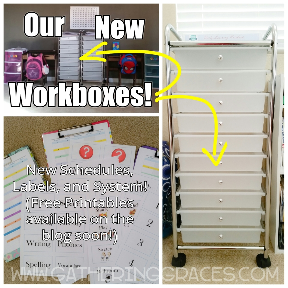 homeschool workboxes and printables