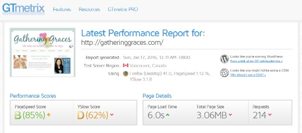 GG performance report 1 day after
