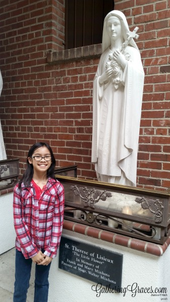 st. john's cathedral st therese statue